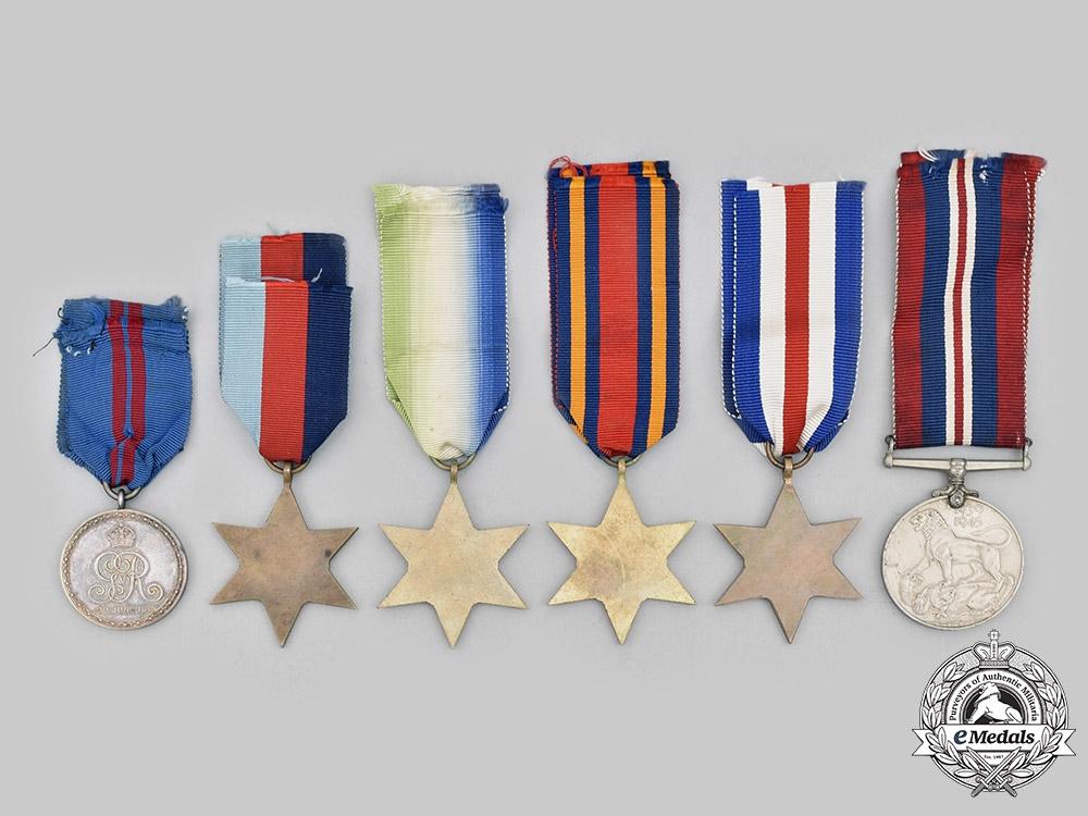 United Kingdom. A Lot of Six Medals & Awards