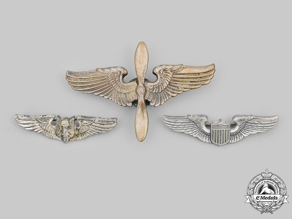United States. A Lot of Three Army Air Force (USAAF) Wings, c.1945