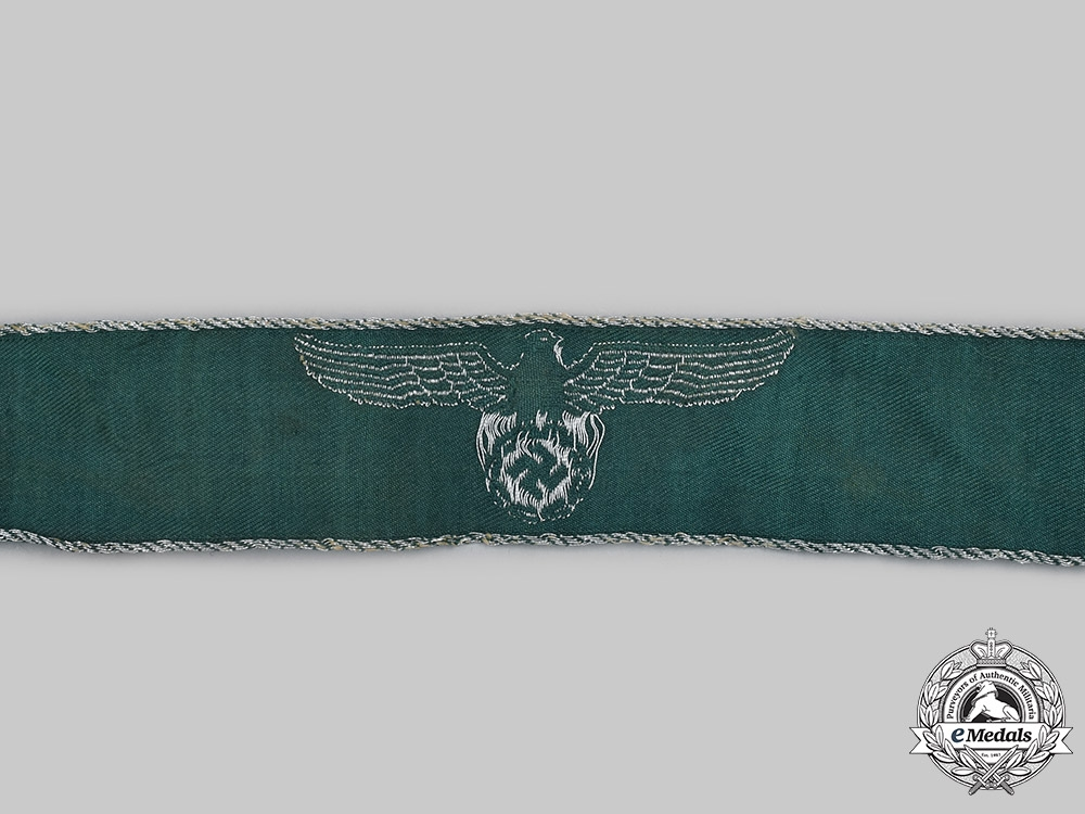 Germany, Third Reich. A Land Customs Official's Cuff Title