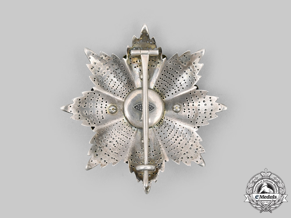 Vatican. An Equestrian Order of St. Gregory the Great, I Class Grand Cross, Military Division, by Tanfani & Bertarelli