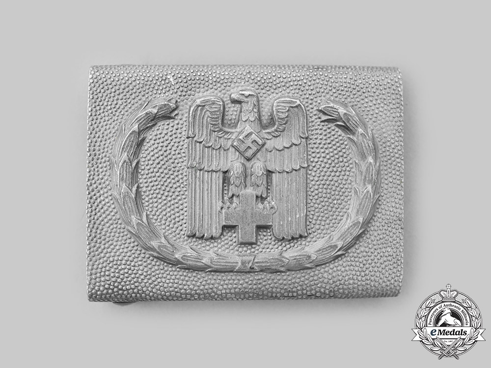 Germany, DRK. A German Red Cross Official's Belt Buckle, by Overhoff & Cie