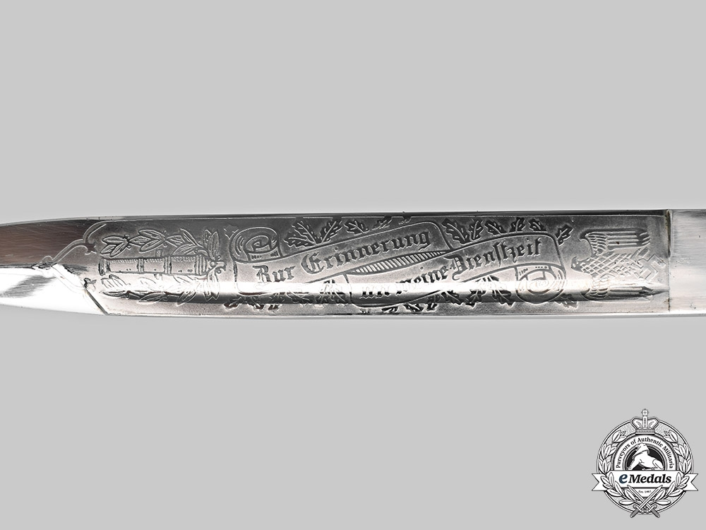 Germany, Heer. An Etched Dress Bayonet, Artillery Personnel, by Carl Eickhorn