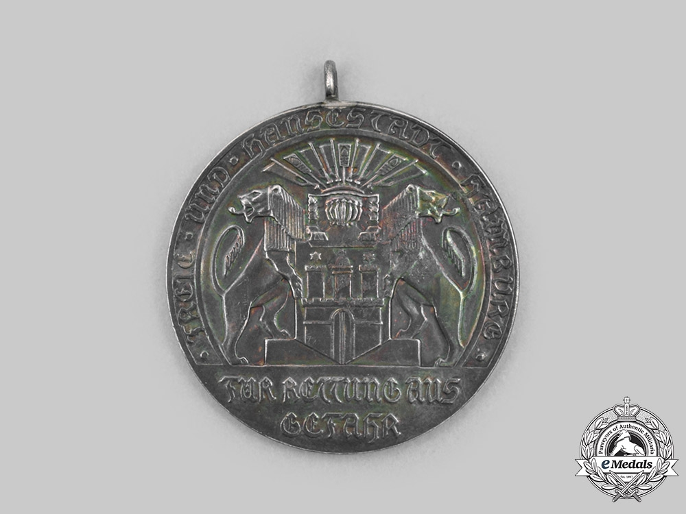 Germany, Hamburg. A Life Saving Medal, c.1918