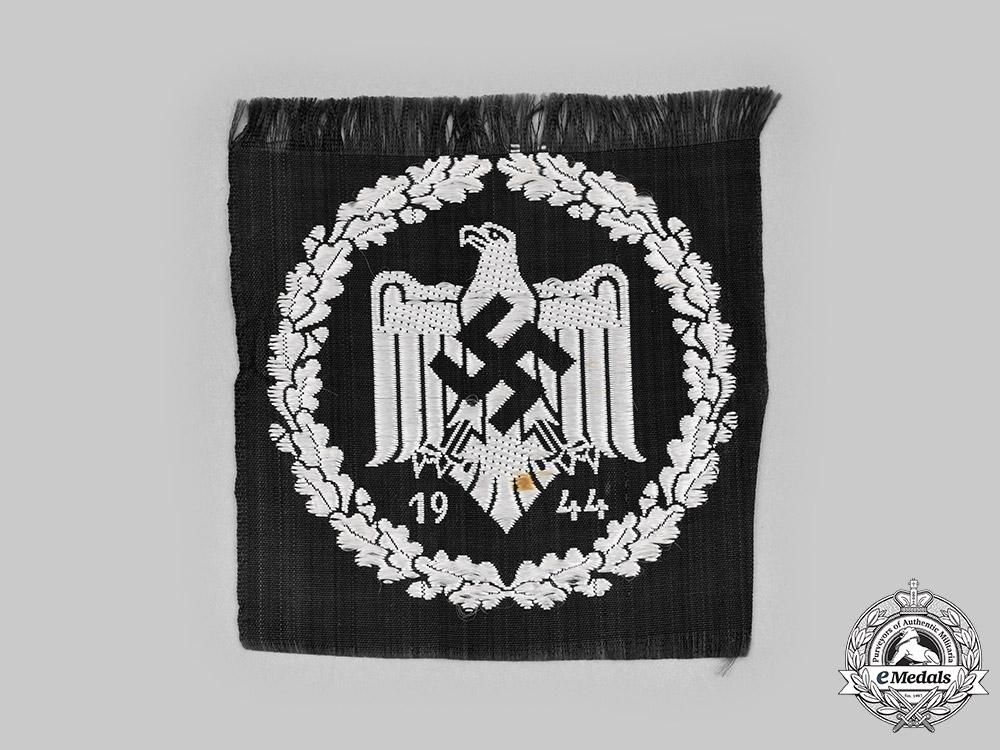 Germany, NSRL. A 1944 NSRL Sports Badge, Silver Grade, Cloth Version