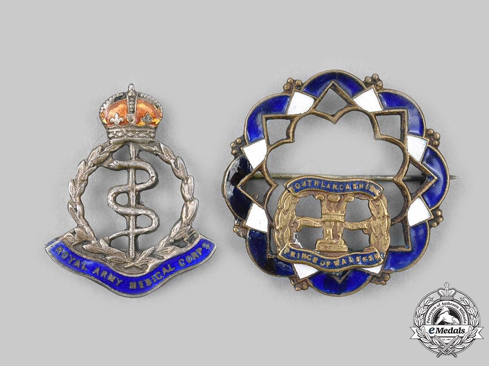 United Kingdom. Two First War Regimental Sweetheart Badges