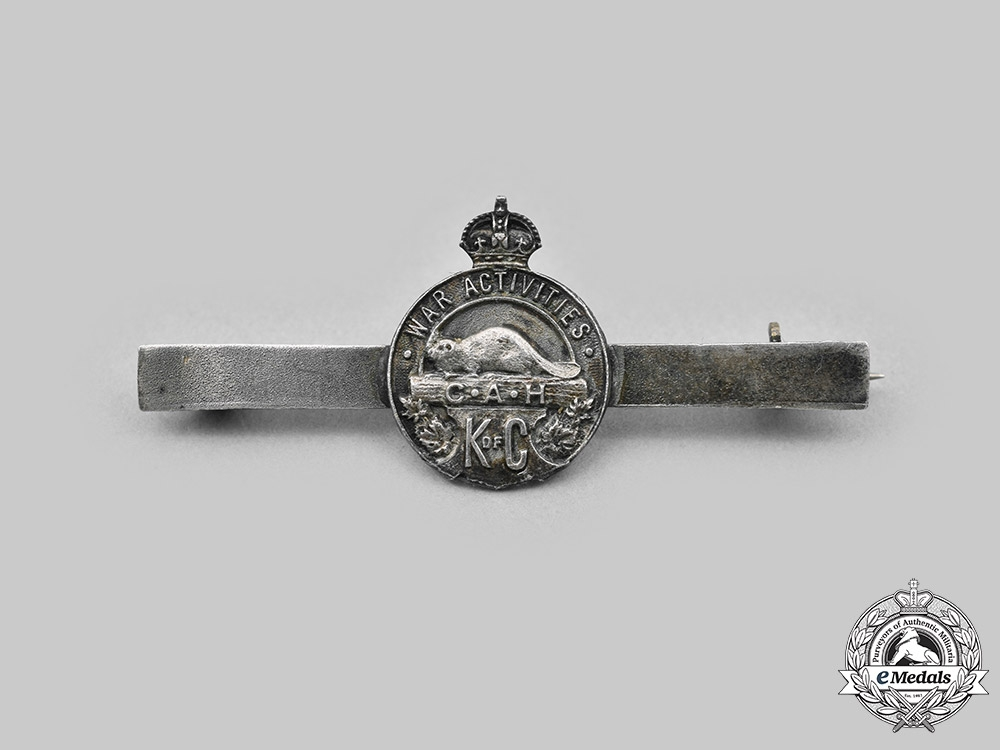 Canada, CEF. A Knights of Columbus Catholic Army Huts War Activities Tie Clip