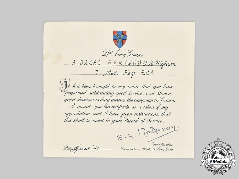 Canada, CEF. A First & Second War Medal to Sergeant Major T.R Higham, KIA Battle of Caen, July 25, 1944