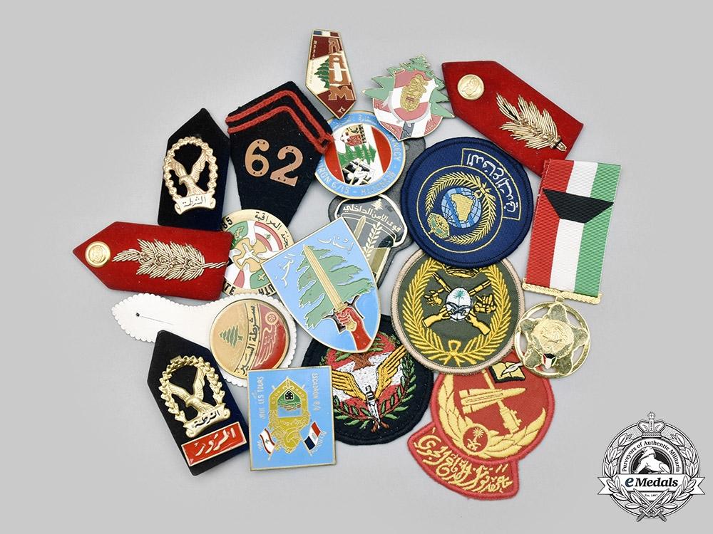 Kuwait, State; Lebanon, Republic; Saudi Arabia, Kingdom; Yemen, Republic. A Lot of Eighteen Items