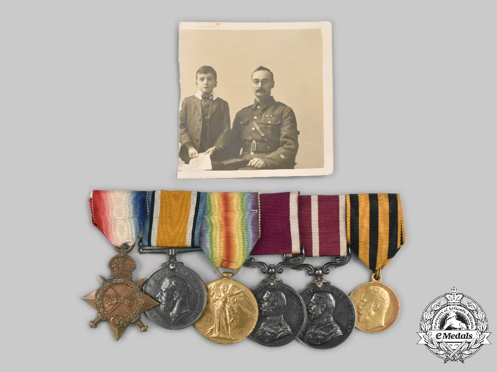 United Kingdom. A Meritorious & Russian Gold Bravery Award Group to  Q.M.S H.W. Adams, Royal Garrison Artillery