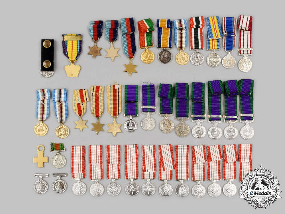 United Kingdom, Canada. A Lot of Forty Miniature Awards