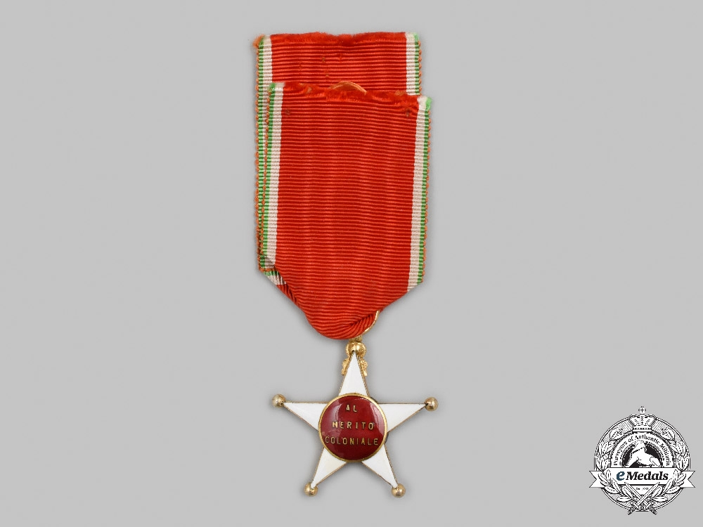 Italy, Kingdom. A Colonial Order of the Star of Italy, V Class Knight, c.1920