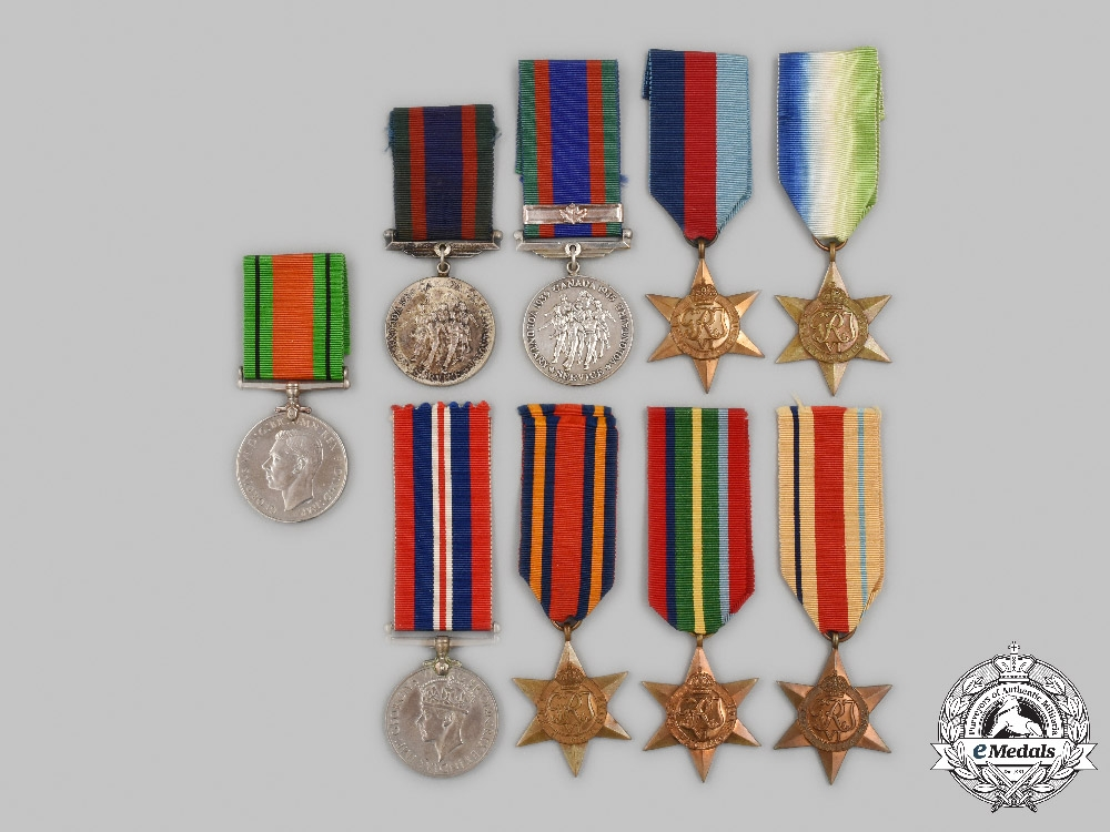 United Kingdom, Canada. Nine Second War Awards