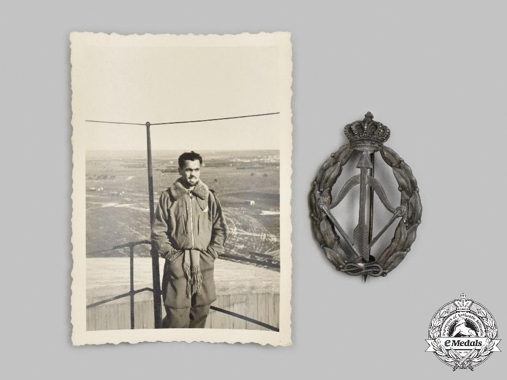 Italy, Kingdom. A Royal Air Force (Regia Aeronautica Italiana) Fighter Interceptor Badge, c.1942