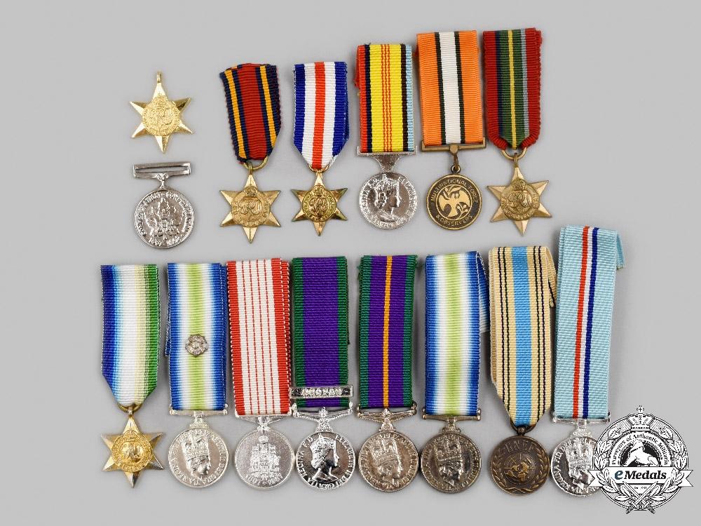 United Kingdom, Australia, Canada, United Nations, International. a Lot of Fifteen Miniature Awards