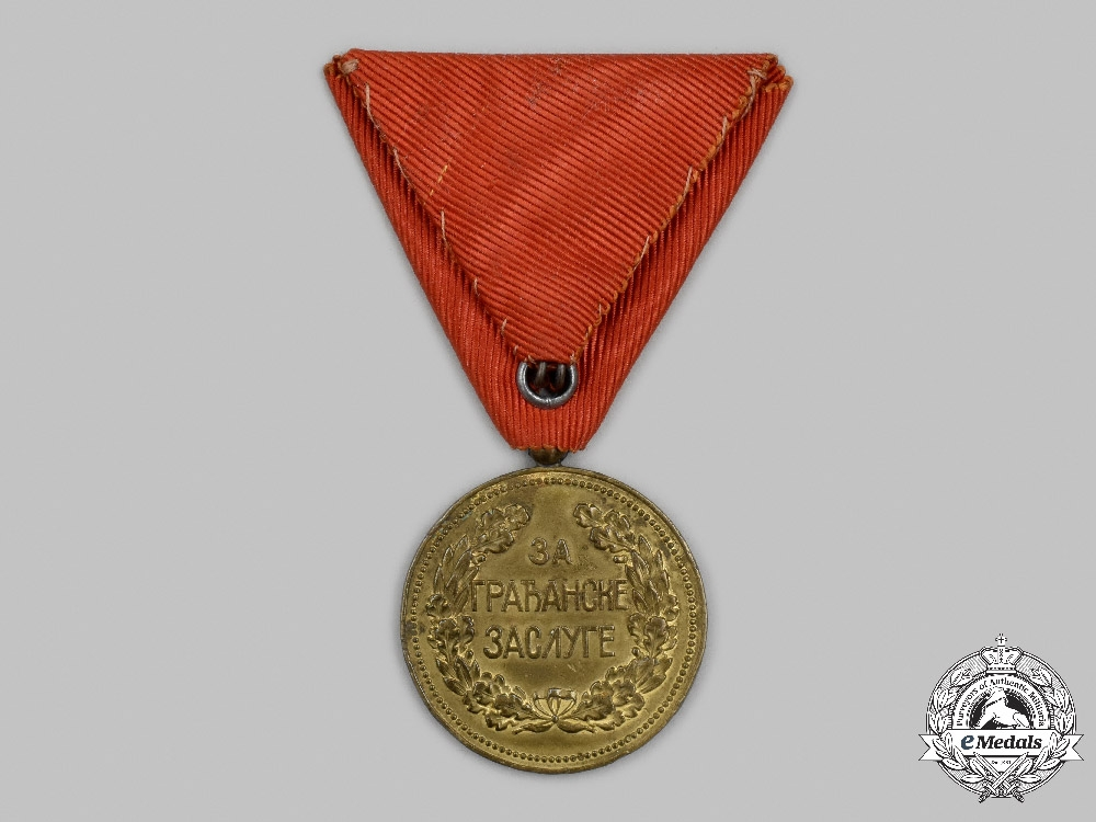Serbia, Kingdom. A Medal for Civil Merit, I Class Gold Grade
