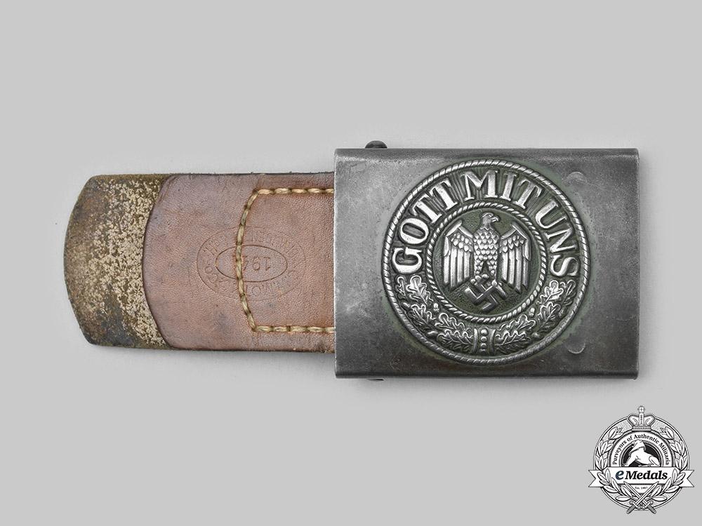 Germany, Heer. A Heer EM/NCO's Belt Buckle, by C.W. Motz