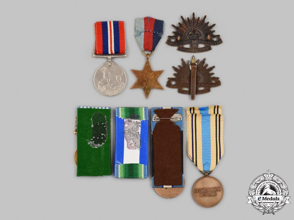Australia, United Kingdom, United Nations. A Lot of Eight Military Service Items