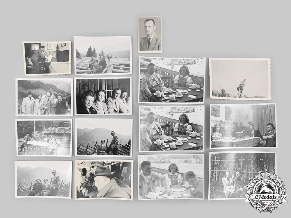 Germany, SS. A Lot of Photographs and Award Documents to SS-Sturmbannführer Karl Auer