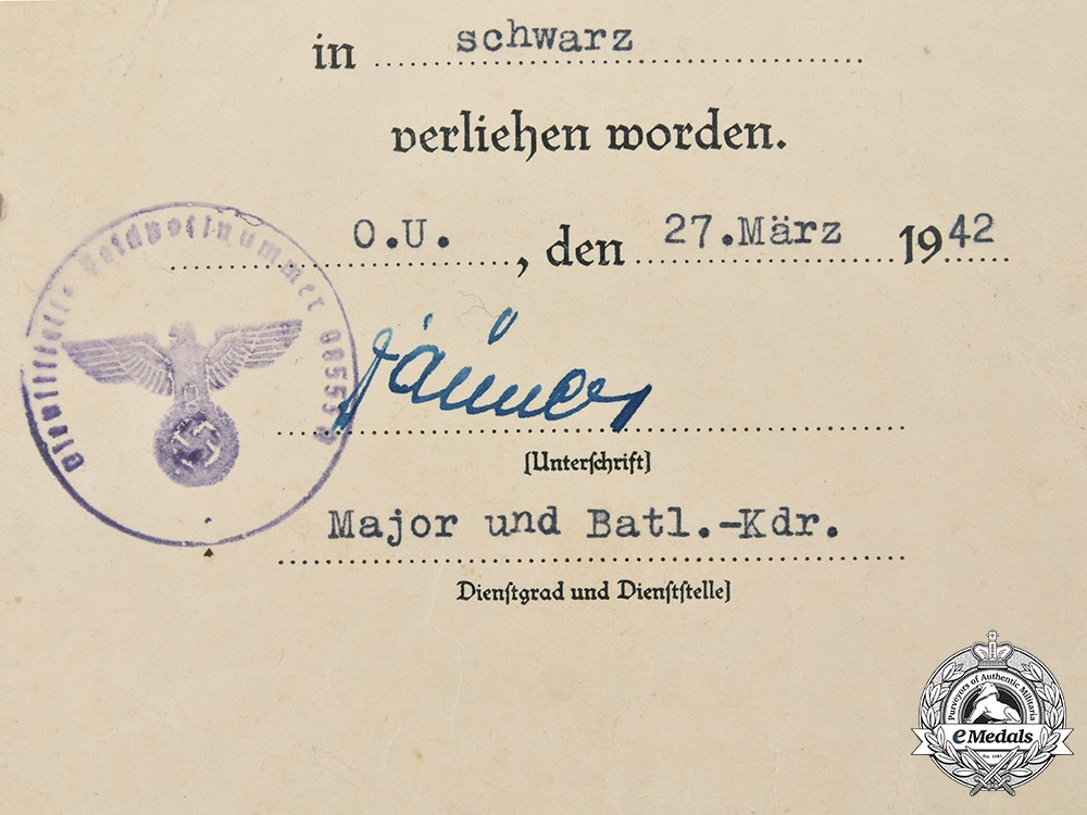 Germany, Heer. A Pair of Award Documents to Obergefreiter Edwin Windisch