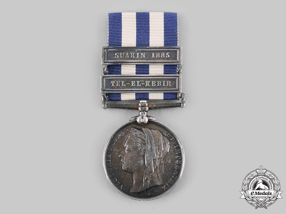 United Kingdom. An Egypt Medal 1882-1889, 17th Company Commst and Transport Corps