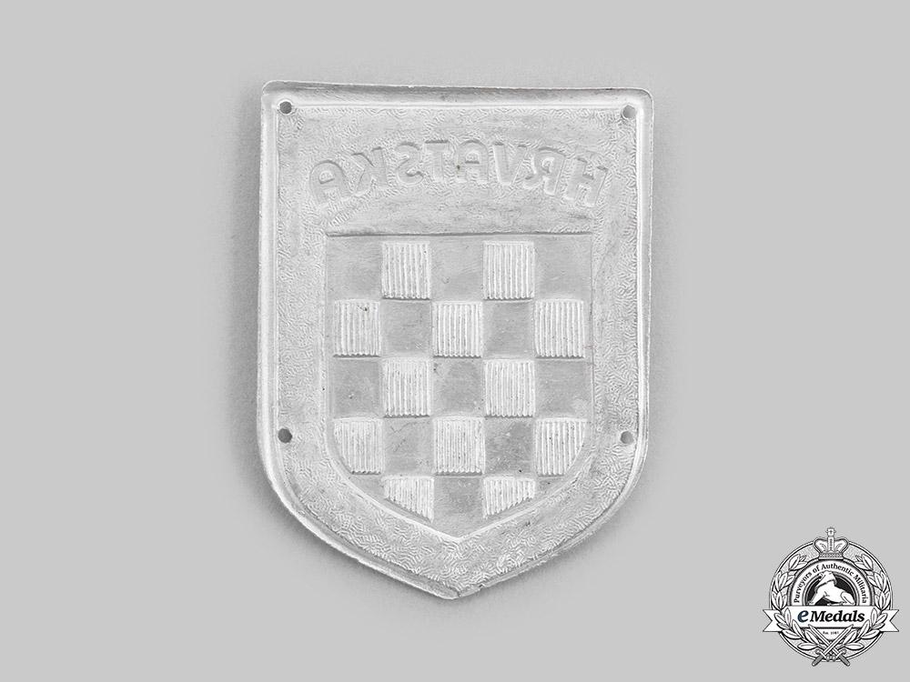 "Germany. A ""Hrvatska"" Wehrmacht Volunteer Shield"