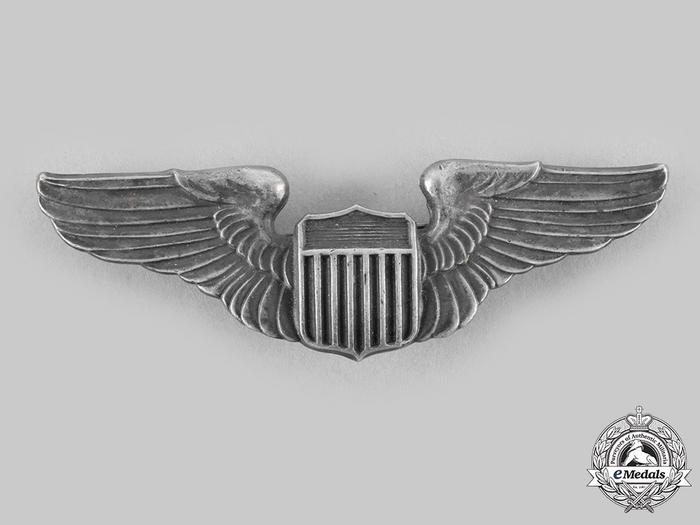 United States. An Army Air Forces Pilot Badge, c.1941