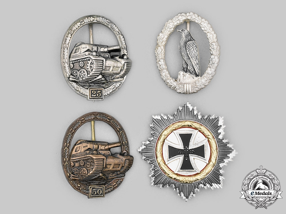 Germany, Federal Republic. A Lot of Wehrmacht Decorations, 1957 Versions