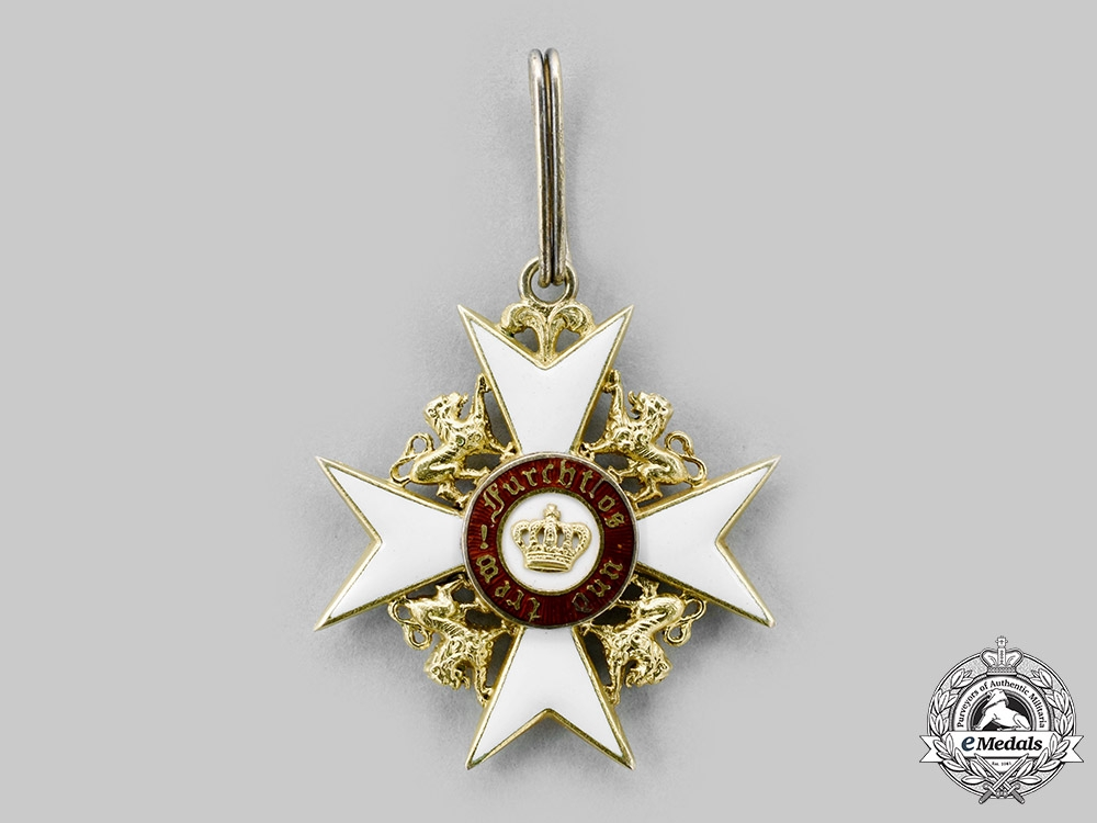 Württemberg, Kingdom. An Order of the Crown, Knight's Cross with Lions, c.1900