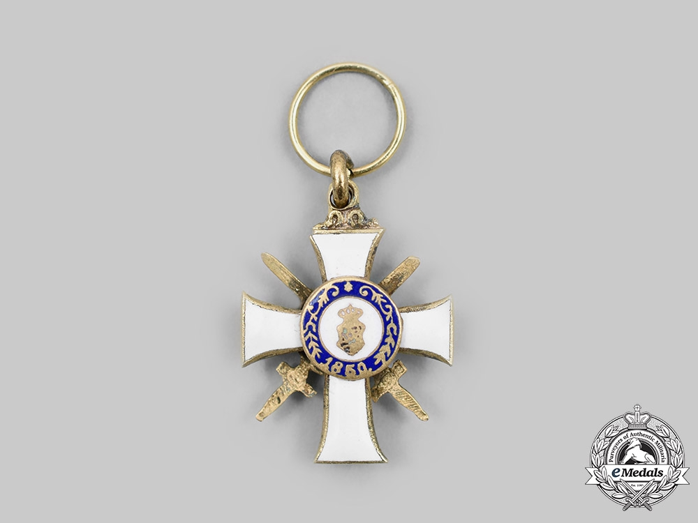 Germany, Saxony. An Order of Albert Miniature, Military Division, c. 1918