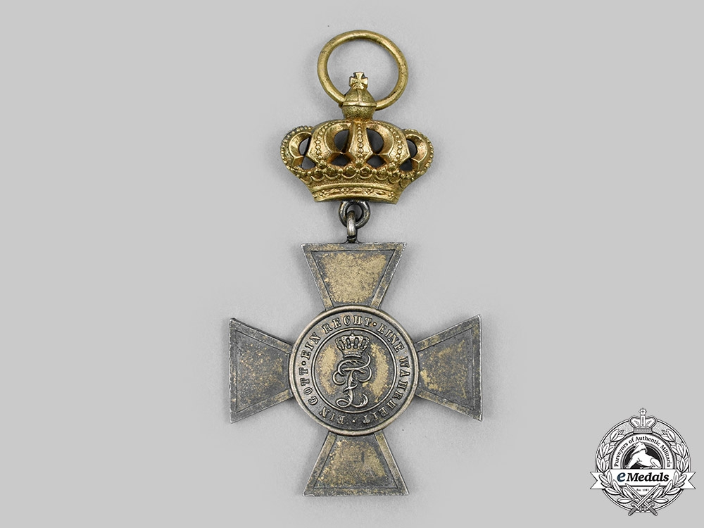 Oldenburg, Grand Duchy. A House & Merit Order of Peter Friedrich Ludwig, I Class Honour Cross with Crown, c. 1900