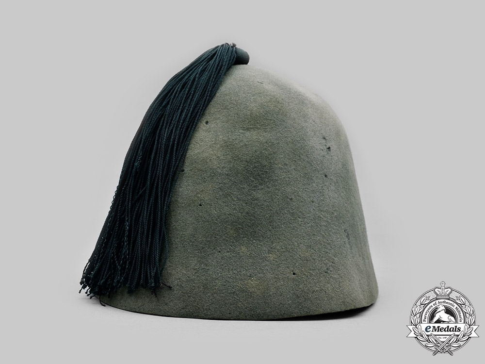"""Germany, SS. A 13th Waffen Mountain Division of the SS """"Handschar"""" Service Uniform Fez"""