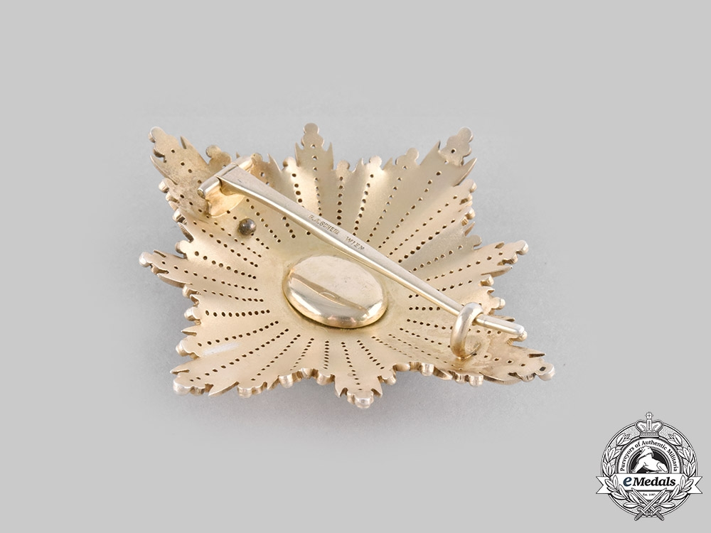 Serbia, Kingdom. An Order of the White Eagle, I Class Breast Star, by G.A. Scheid, c.1895