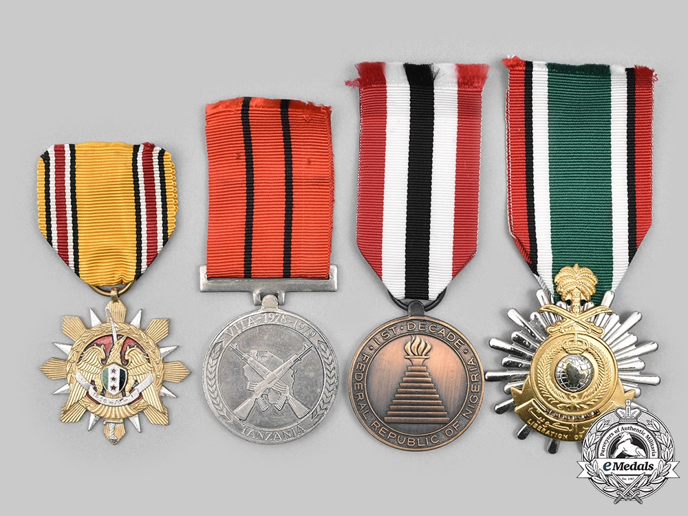 Nigeria, Saudi Arabia, Syria, Tanzania. A Lot of Four Medals