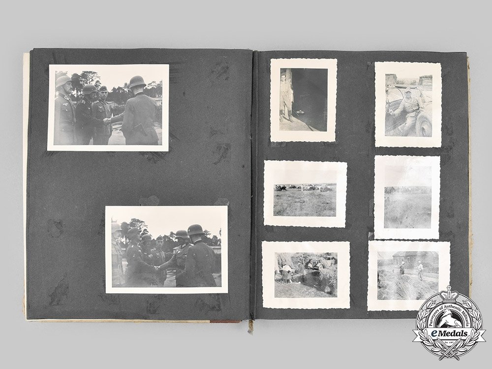Germany, Heer. A Private Wartime Photo Album, with Correspondence, to a Georgian Legion Volunteer