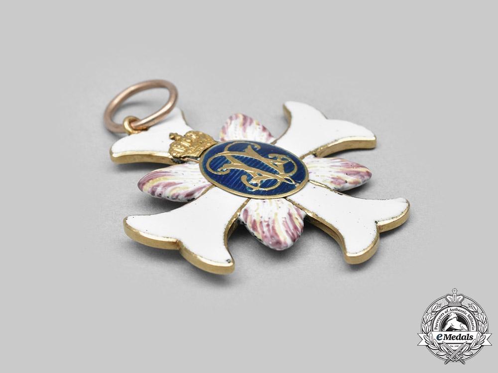Sweden, Kingdom. An Order of Vadstena Adliga, Ladies Cross in Gold, c. 1800