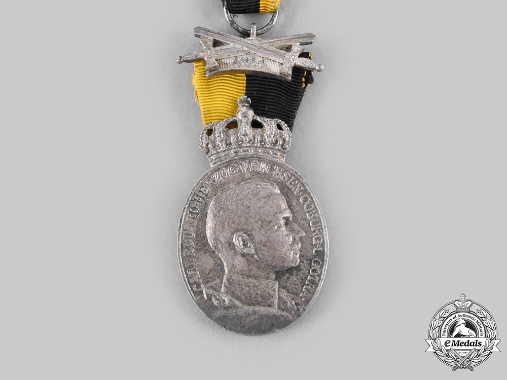 Saxe-Coburg & Gotha, Duchy. A Duke Carl Eduard Medal with War Decoration