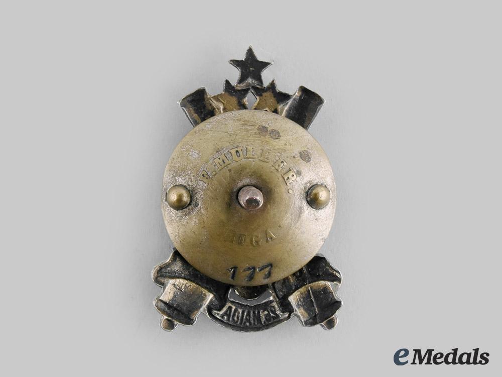 Latvia, Republic. A Smagās Artilērijas Divizions (Heavy Artillery Division) Badge, by F. Muller, c.1930