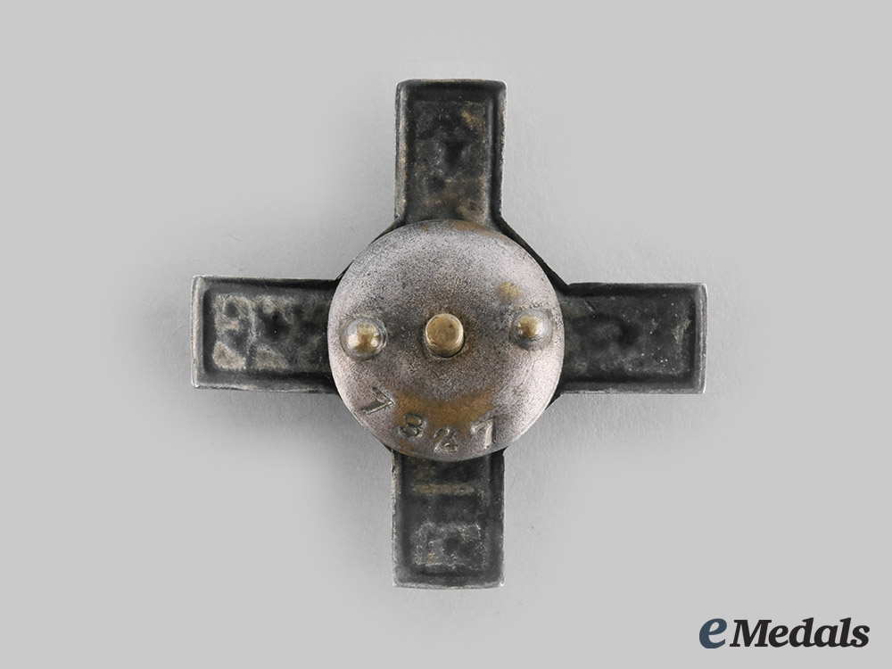 Latvia, Republic. A Coastal Artillery Badge, c.1920