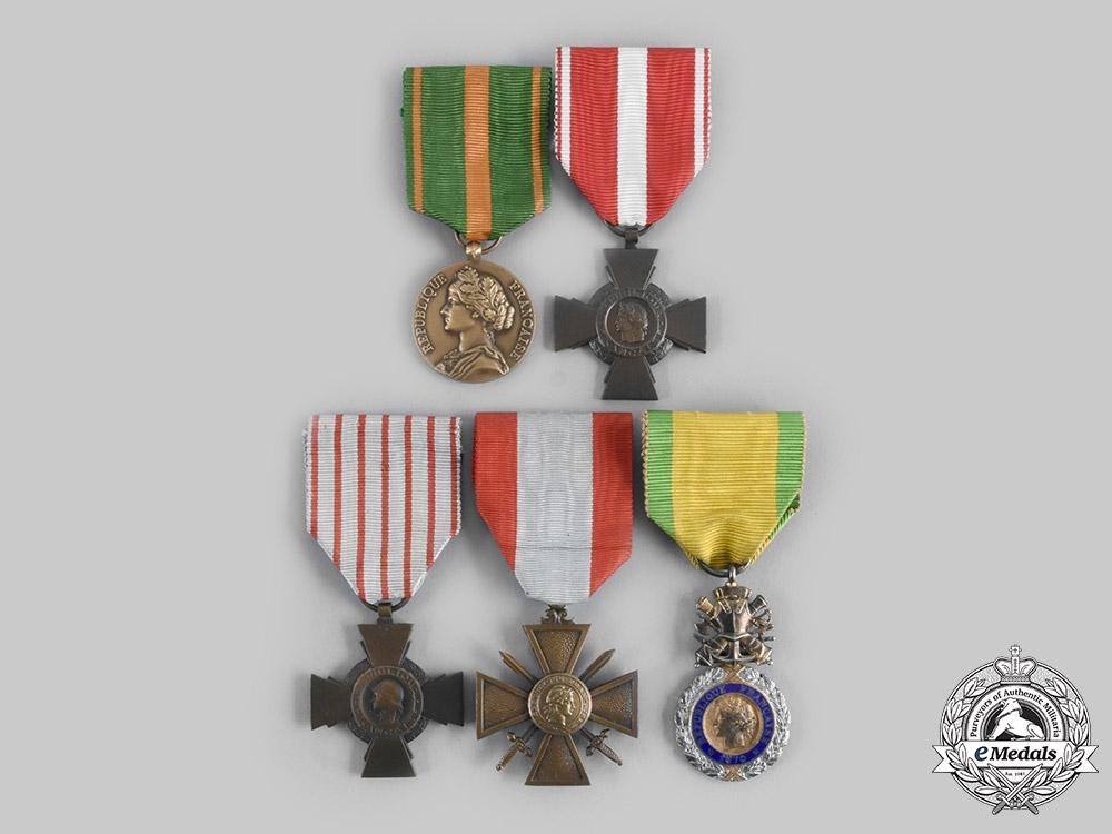 France, III Republic. A Lot of Five Awards