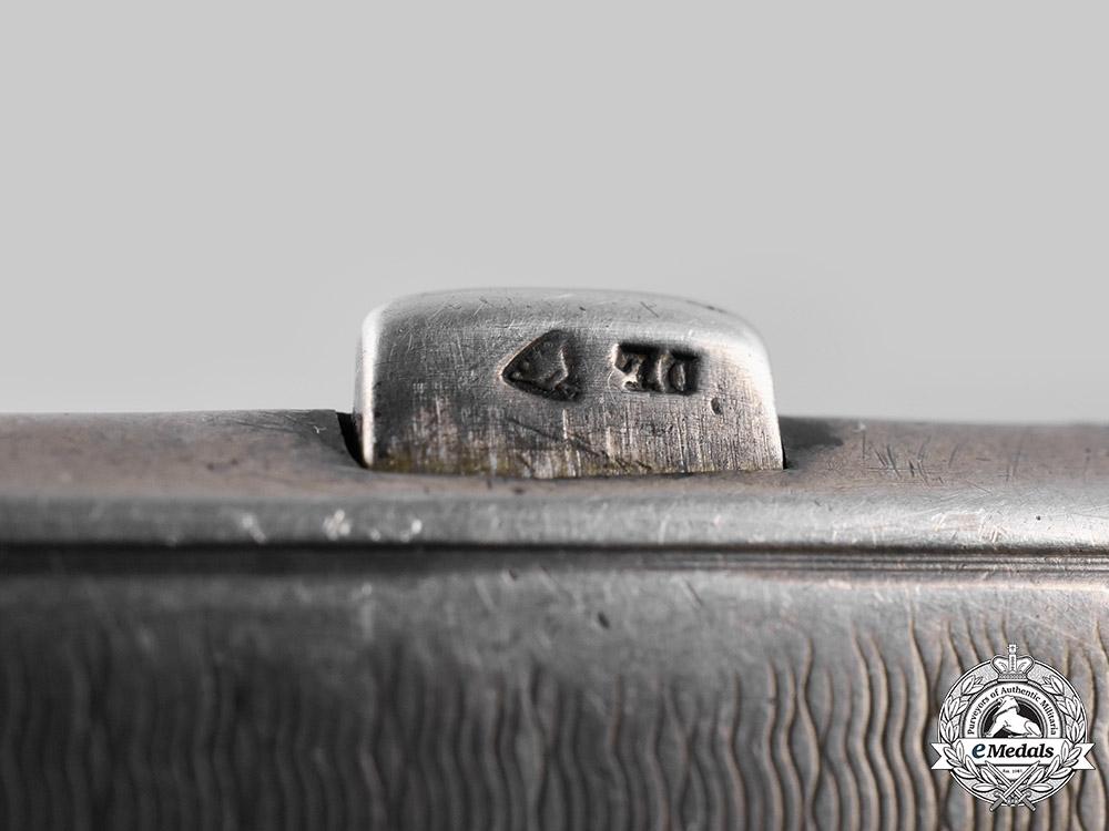 Germany, Wehrmacht. A Krim Shield Silver Cigarette Case