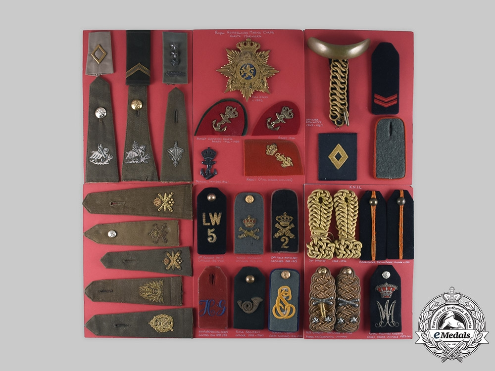Netherlands, Kingdom. Lot of 169 Armed Forces Insignia, c. 1865-1982