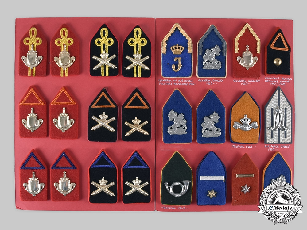 Netherlands, Kingdom. Lot of 111 Armed Forces Uniform Insignia c. 1950s-1960s