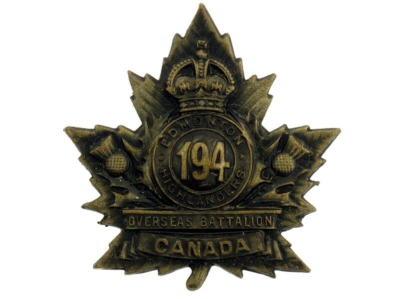 194th Infantry Battalion Cap Badge