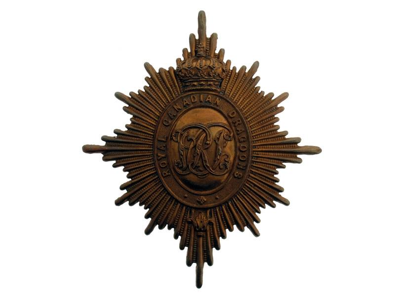 Royal Canadian Dragoons Helmet Plate