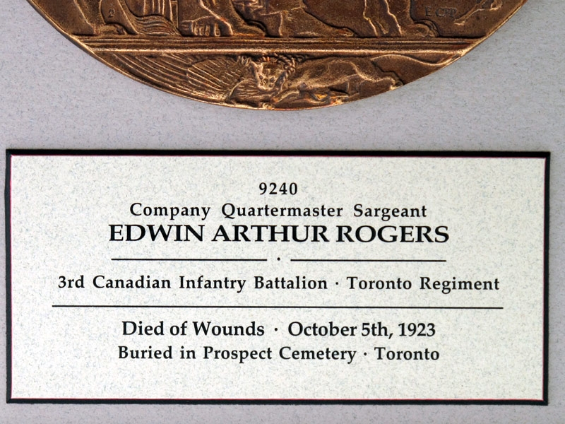 WWI 3rd Canadian Infantry – KIA