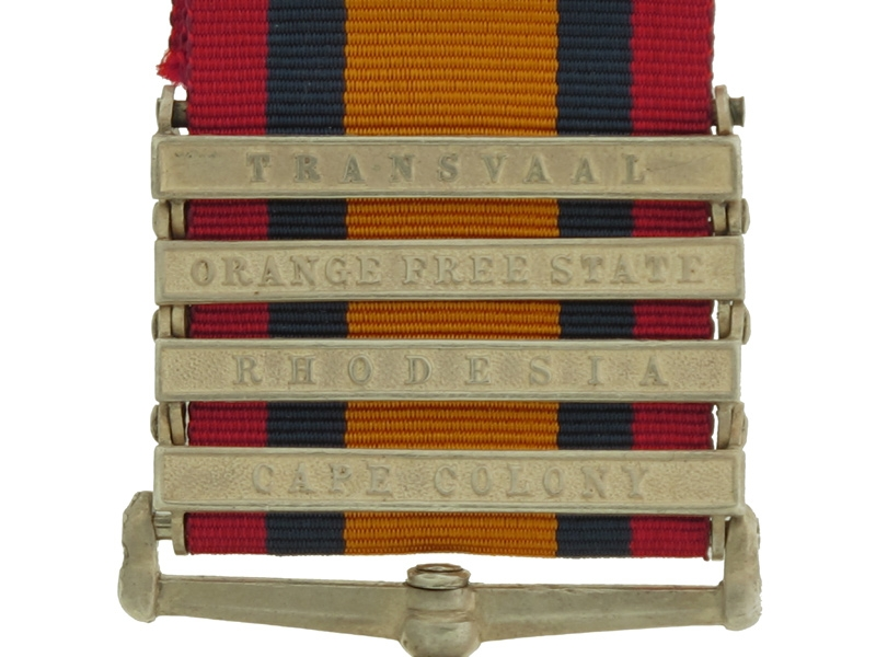 QSA-Canadian Royal Artillery, 4 clasps