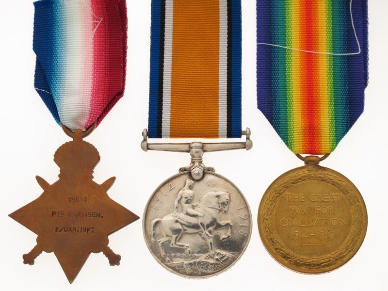 WWI Trio - Danish Canadian - 1st Division CEF
