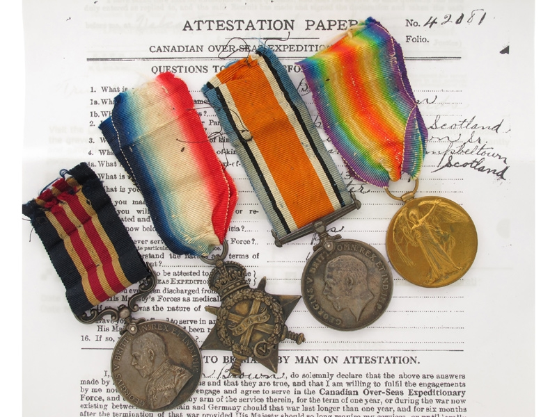 WWI M.M. Group of Four,