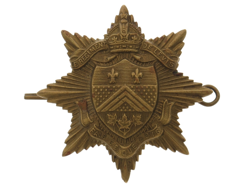 WWII Regiment de Levis (Levis, OC) Cap Badge