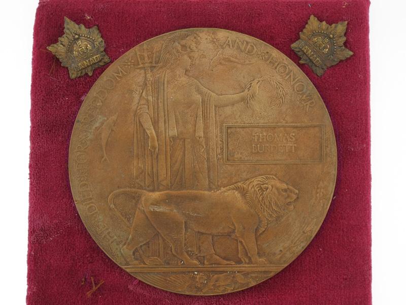 WWI Memorial Collection. Pte. Burdett, 58th Batt.